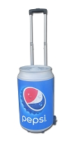 5 Gallon Can Shaped Cooler Barrel on Wheels - Pepsi Bottlecap