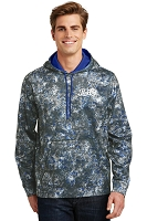 Sport-Wick® Mineral Freeze Fleece Hooded Pullover - Pepsi Cola