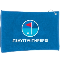 Quality Golf Towel - Pepsi