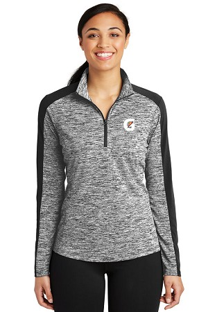 Ladies PosiCharge® Electric Heather Colorblock 1/4-Zip Pullover - Gatorade