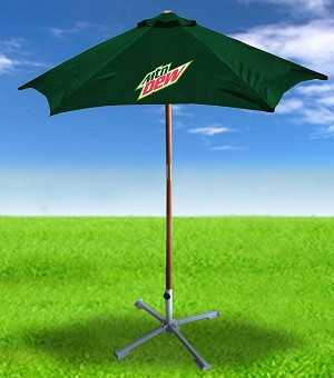 6ft 6in Wooden Patio Umbrella - MTN Dew