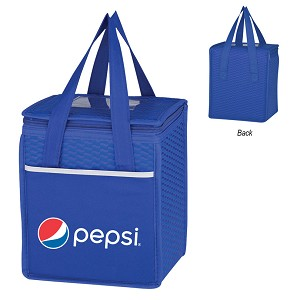 Non-Woven Wave Design Kooler Lunch Bag Pepsi