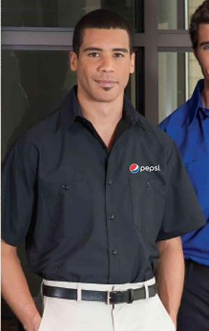 Short Sleeve Work Wear 65/35 Shirt - Pepsi