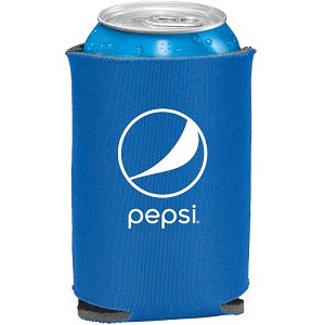 Folding Foam Can Cooler - Pepsi