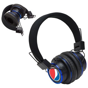 Top Sound Noise Cancellation Bluetooth Folding Headphones - Pepsi