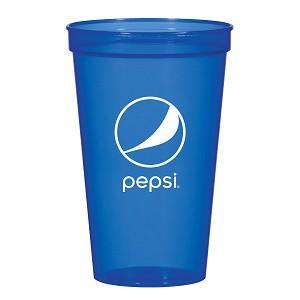 22 Oz. Translucent Stadium Cup - Pepsi