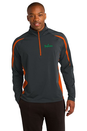 Sport-Wick® Stretch 1/2-Zip Colorblock Pullover - Tropicana