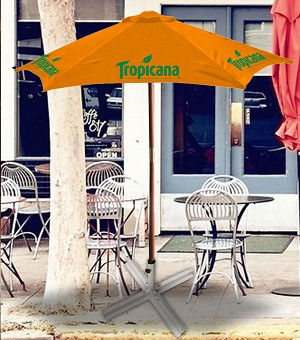 7ft Wooden Patio Umbrella - Tropicana