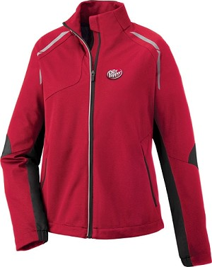 Dynamo Ladies' Hybrid Performance Soft Shell Jacket - Dr. Pepper