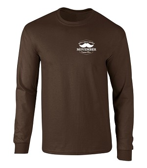 Men's Deluxe Heavyweight Long Sleeve Tshirt - Movember