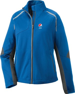 Dynamo Ladies' Hybrid Performance Soft Shell Jacket - Pepsi