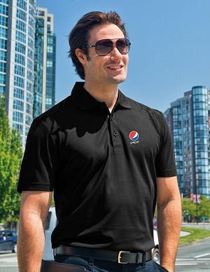 Deluxe Gear Dri Fit Polo - Pepsi (Black)