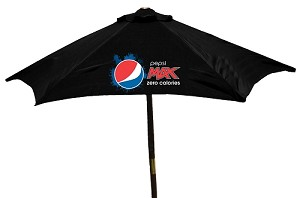 6ft 6in Wooden Patio Umbrella - Pepsi-Max